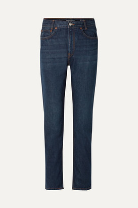 RE/DONE Original Academy High-rise Straight-leg Jeans - Dark denim