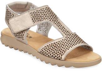 Sesto Meucci Tony Metallic Leather Comfort Sandals