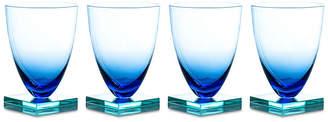 One Kings Lane Set of 4 Studio Wineglasses - Blue