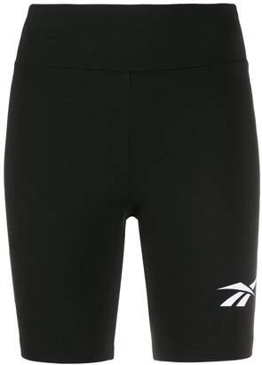 Reebok Vector logo print cycling shorts