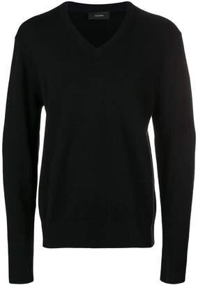 Joseph V-neck knit pullover