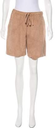 Victoria Beckham Suede Knee-Length Shorts