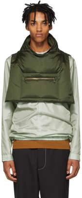Jil Sander Green Collar Vest
