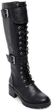 Design Lab Monna Buckled Tall Combat Boots