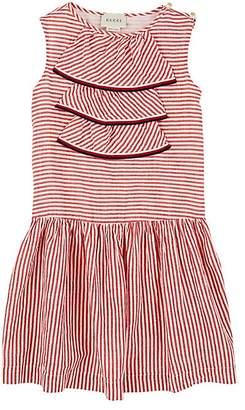 Gucci Kids' Jabot-Accented Sleeveless Dress