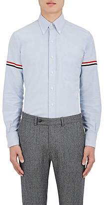Thom Browne Men's Appliquéd Cotton Button-Down Shirt - Lt. Blue