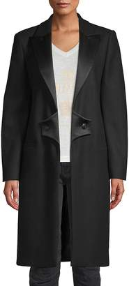 Pierre Balmain Women's Peak Lapel Wool Coat