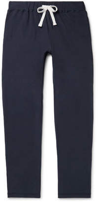 Ermenegildo Zegna Slim-Fit Fleece-Back Stretch-Cotton Jersey Sweatpants - Men - Storm blue
