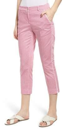 Brax Maron Gingham Stretch Cotton Pants