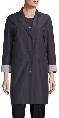 Peserico Cuffed Raincoat $770 thestylecure.com