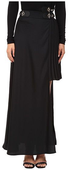 VersaceVersace Jeans Long Asymmetrical Side Skirt