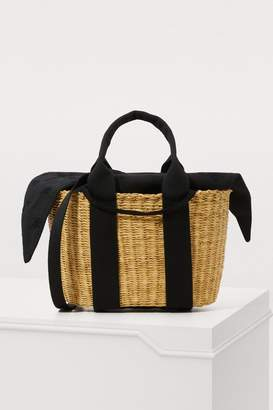 Muun P HDL basket tote bag with pouch
