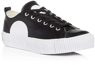 McQ Men's Plimsoll Leather Lace Up Platform Sneakers