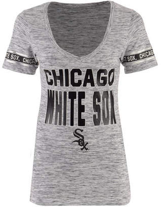 5th & Ocean Women's Chicago White Sox Space Dye Sleeve T-Shirt