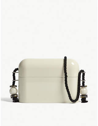 The Row White Acrylic Evening Clutch Bag