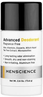 Menscience Advanced Deodorant (Aluminum & Fragrance Free), 2.6 oz./ 73.6g