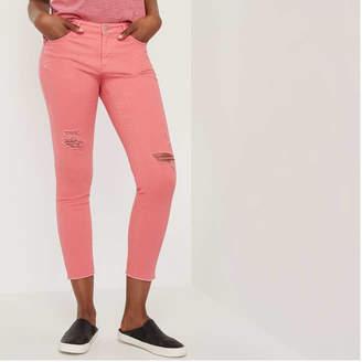 Joe Fresh Women's Distressed Colour Denim Jeans, Dusty Rose (Size 25)