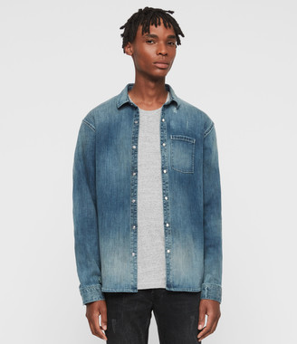 AllSaints Imcro Denim Shirt