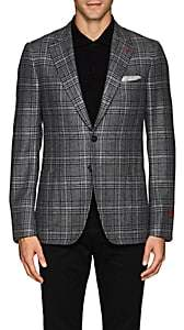 Isaia Men's Cortina Plaid Cashmere Two-Button Sportcoat-Gray