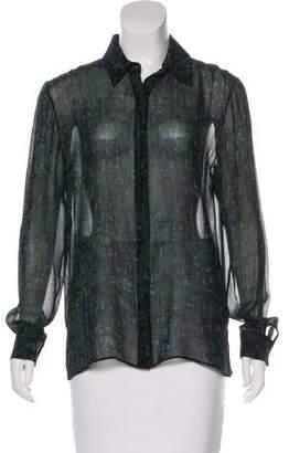 Jason Wu Silk Button-Up Top