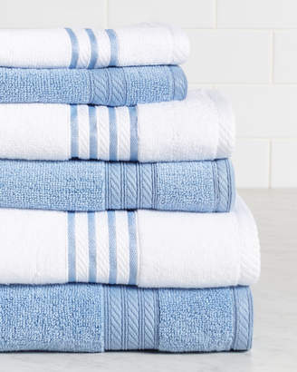 Colonial Home 6Pc Quick Dry Stripe Towel Set