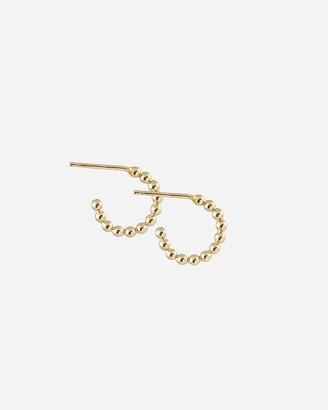 Express One Six Five Gold Beaded Hoop Earrings