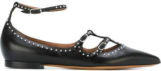 Givenchy studded strappy ballerinas