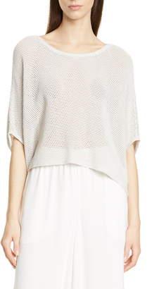 Eileen Fisher Organic Cotton Blend Crop Sweater