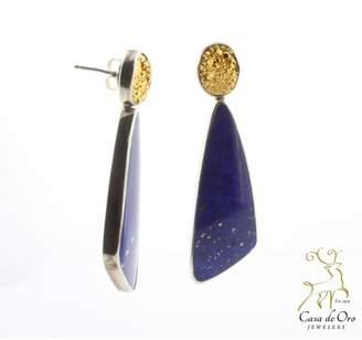 Lapis CDO Druzy Earrings