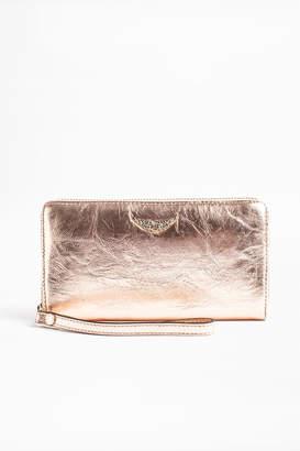 Zadig & Voltaire Compagnon Crush Metal Wallet