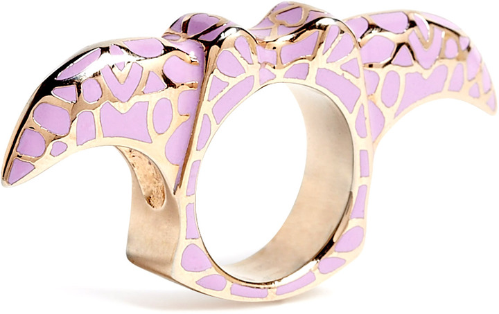 Dominic Jones DJ By Gold Plated Claw Knuckle Duster Ring
