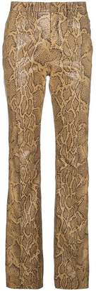Chloé Python Print Leather Trousers