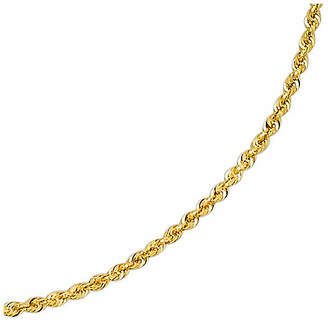 JCPenney FINE JEWELRY Solid 14K Gold Glitter Rope 18-30 2.5mm Chain