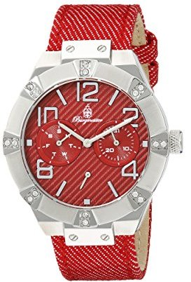 Burgmeister Women 's bm611 – 144 Analog Display Quartz Red Watch