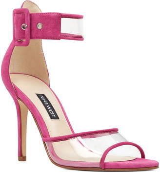 7d19a7b2445 Nine West Pink Leather Women s Sandals - ShopStyle