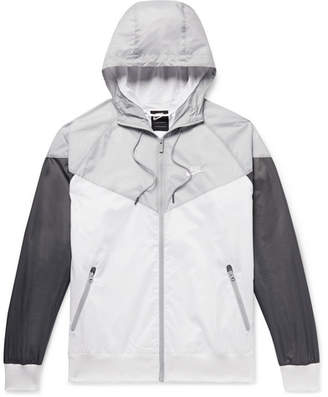 4ee2547ed845 Nike Windrunner Colour-Block Nylon Hooded Jacket