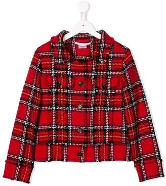 Oscar de la Renta Kids plaid tweed jacket