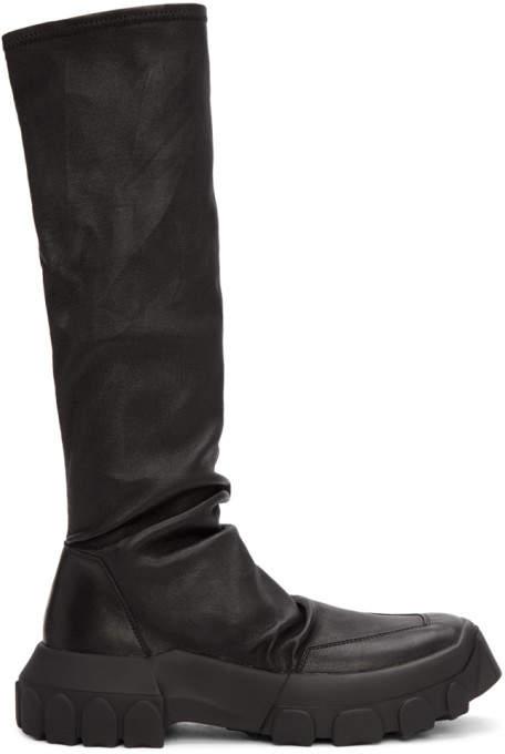 Black Hiking Sock High-top Sneakers