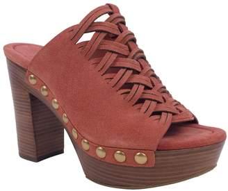 MICHAEL Michael Kors Westley Mule Women US 7.5 Red Peep Toe Mules