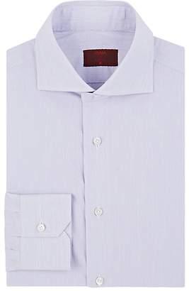 Isaia Men's Hairline-Striped Cotton Poplin Shirt