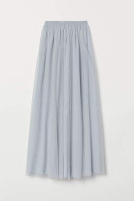 a3d781b96a H&M Long Tulle Skirt - Turquoise