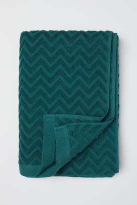 H&M Jacquard-patterned Bath Towel - Green