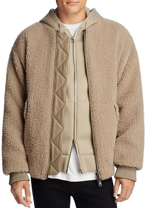 Helmut Lang Luxe Sherpa Bomber Jacket $895 thestylecure.com
