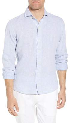 Ledbury Chaversham Slim Fit Linen & Cotton Sport Shirt