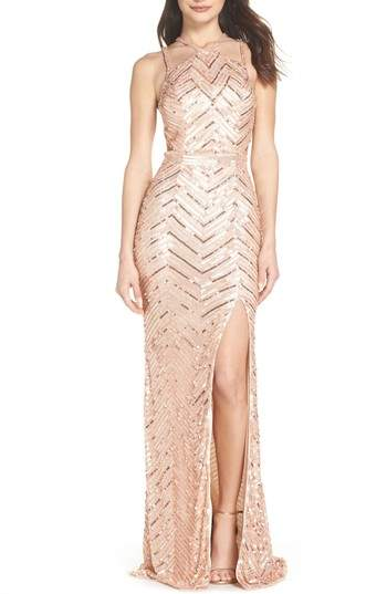 Sequin Strappy Gown