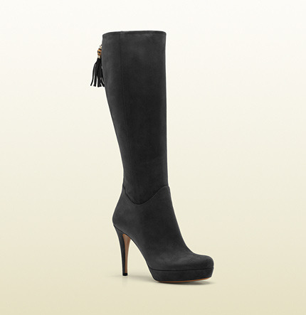 Gucci Betty Tassel And Bamboo Mid Heel Platform Boot