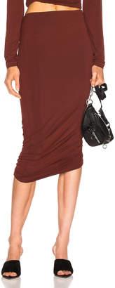 Alexander Wang Twisted Skirt in Rust | FWRD
