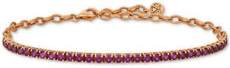 LeVian Le Vian Rhodolite Garnet (3 ct. t.w.) Bracelet in 14k Rose Gold (Also Available in Blue Topaz)