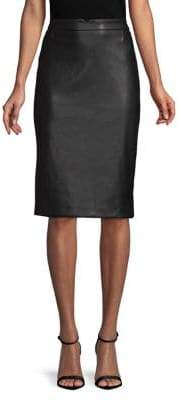 Context Faux-Leather Pencil Skirt