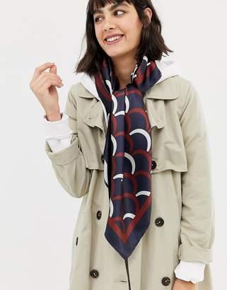 Asos (エイソス) - Asos Design ASOS DESIGN large polysatin headscarf in scallop print
